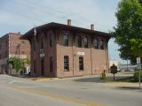 Lincoln walked to the train depot & left Springfield by train.  This building is a replica.The original burned down recently.