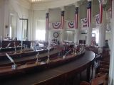 It is in this chamber (Hall of Representatives) at the Old Capitol that Lincoln's body was brought.