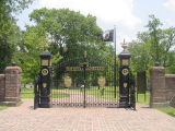 Entrance to Shiloh National Cemetery located near Pittsburg Landing. (Click on photo to see caption)