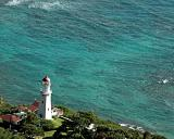 View of Historic Lighthouse from Diamond Head Summit