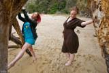Brigid, Lacey, Beach & Tree