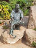 G10_1105.jpg Sculpture of Gerald Durrell - Durrell Conservation Trust, Trinity - © A Santillo 2011