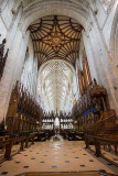 IMG_4692.jpg Winchester Cathedral - Quire and Nave roof and vaulting - view from Presbytery - © A Santillo 2013