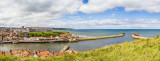 IMG_3330-Pano-Edit.jpg West Cliff of Whitby, River Esk and Harbour Mouth - Whitby - © A Santillo 2011