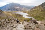 _MG_2569.jpg Llyn Idwal tarn (ascent up through 'The Devil's Kitchen') - Glyder Fawr, Snowdonia - © A Santillo 2009