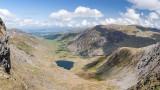 CRW_01282-Pano-Edit.jpg Llyn Idwal & Pen yr Ole Wen fm Glyder Fach - Glyder Fawr, Snowdonia - © A Santillo 2004