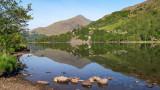CRW_01297.jpg Llyn Gwynant lake with Yr Aran and Craig Wen - Snowdonia - © A Santillo 2004