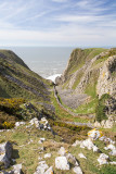 IMG_2919.jpg Looking down the valley to Paviland Cave where Red Lady of Paviland was discovered - Rhossili - © A Santillo 2009