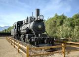 DV black steam engine maybe Old Dinah