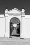 Cemetery San Sebastian de Aracena bw 2018-06-23