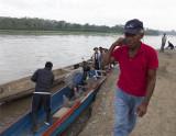 disembarking the piragua