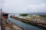 Second boat entering the series of locks from Gallitin Lake