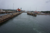 We have exited first series of locks on to lake Gallitin