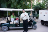 Golf carts with pleasent staff were always available