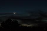 1.5 Day-old Moon, Venus and Mercury