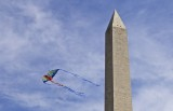 Washington Monument Being Buzzed By Flying Dragon