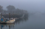 Town Dock On A Foggy Morning