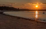 Curving Shoreline Sunset