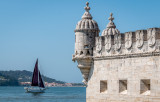 Belem Tower and the Sailboat