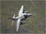 RAF Harrier at the Ogwen Valley