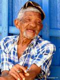 Old Man Smoking Cuban Cigar