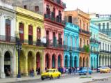Paseo de Martí, in front of Capitolio,Havana,Cuba