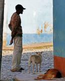 The Man and The Dog. Trinidad, Cuba