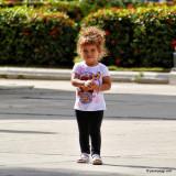 Cute Little Girl Playing. Cienfuegos, Cuba