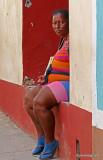 Characters who meet walking in the Old Havana, Cuba