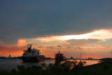 Evening on the Mississippi River