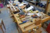 The tidiest bench in the shop