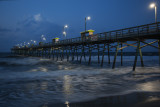 Daybreak At The Bogue Inlet Pier-A Ghost On The Pier