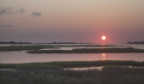 Sunrise On The Marshlands Bordering The Intracoastal Waterway