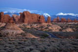 A Blue Hour Image Of Arches National Park, Utah