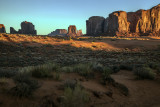 Reflected Light From A Sunrise  In Monument Valley, Navajo Nation, Arizona
