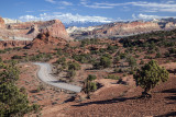 Capitol Reef Afternoon Scenic View