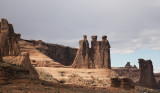Rock Formations In Arches National Park, Utah