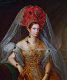 1836 - Alexandra Feodorovna in folk costume