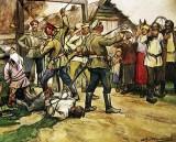 c. 1919 - White Cossacks shooting peasants