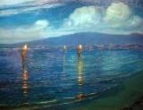 1920 - The Torchlight Fishermen, Waikiki, Hawaii