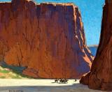 1916 - Sunset, Canyon de Chelly, Arizona