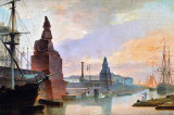 1835 - Sphinxes aside the dock in front of St. Petersburg Academy of Arts