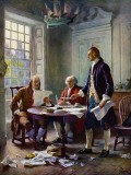June 1776 - Reviewing a draft of the Declaration of Independence