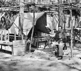 August 1864 - Union soldiers' living quarters