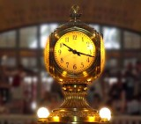 Clock atop the Information Booth