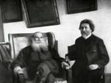 1907 - Leo Tolstoy and painter Ilya Repin