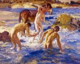 1914 - Anzacs Bathing in the Sea