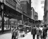 c. 1907 - Wabash Avenue with Elevated Tracks