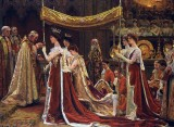 August 1902 - The Anointing of Queen Alexandra at the Coronation of Edward VII