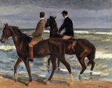 1901 - Two Riders on a Beach